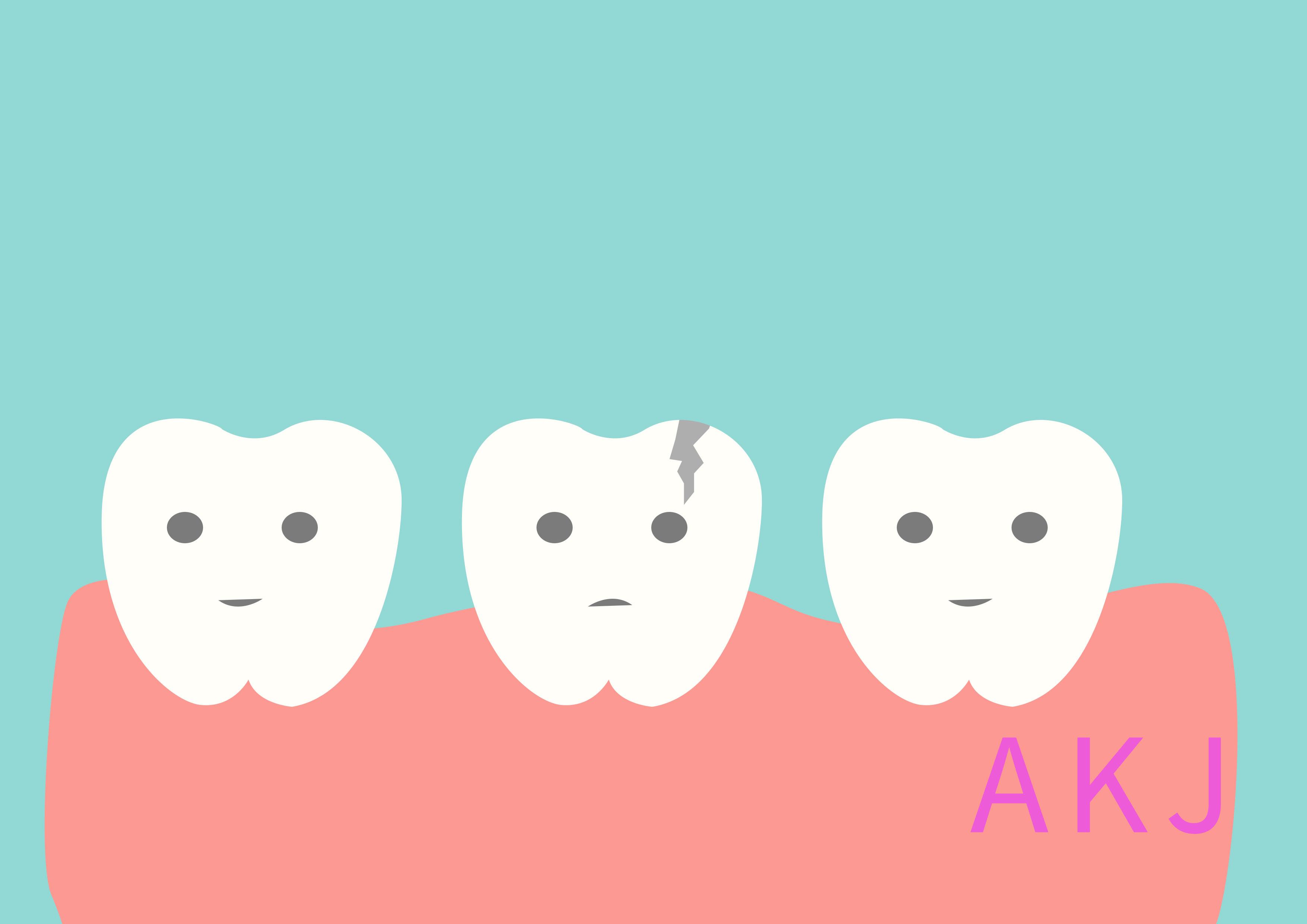 牙齿外伤裂开