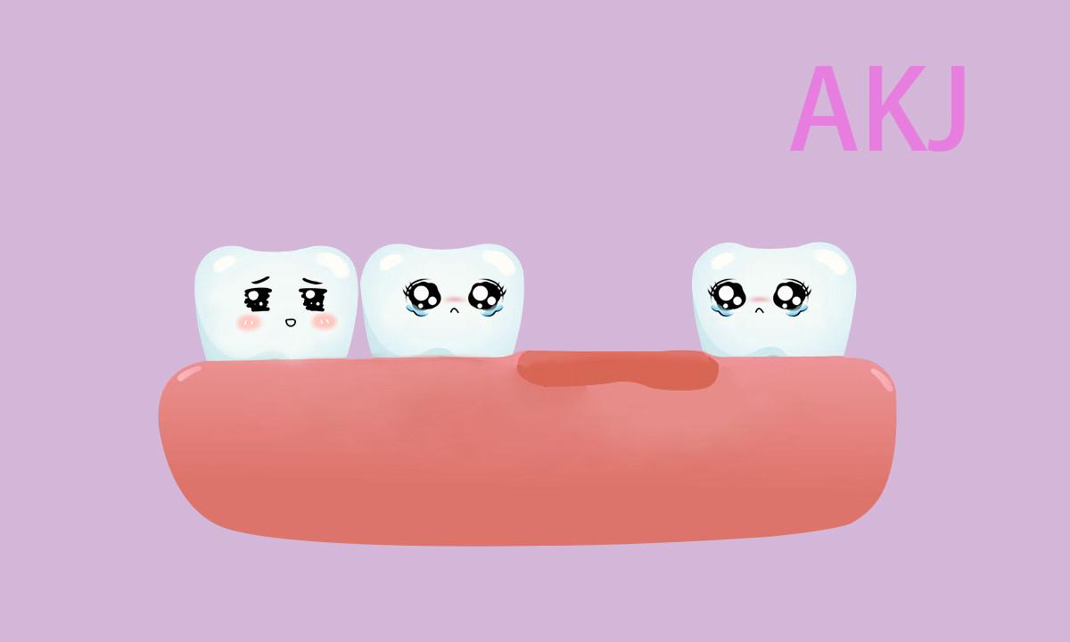 牙齿缺失示意图片
