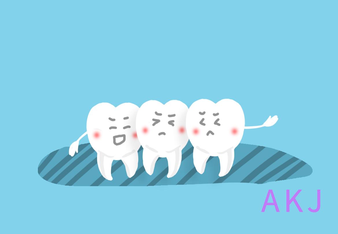 牙齿拥挤示意图片